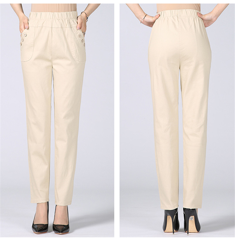 HTB1OX0tkDlYBeNjSszcq6zwhFXa8 - Plus Size 5XL High Waist Stretch Long Pants Women Cotton Straight Trousers Women Pantalon Femme Work Office Ladies Pants C4315