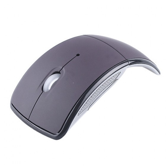 Fashion Mini Wireless Mouse USB Jack 2.4G Snap-in Transceiver Optical Foldable Folding Arc Wireless Mice For PC Laptop Computer