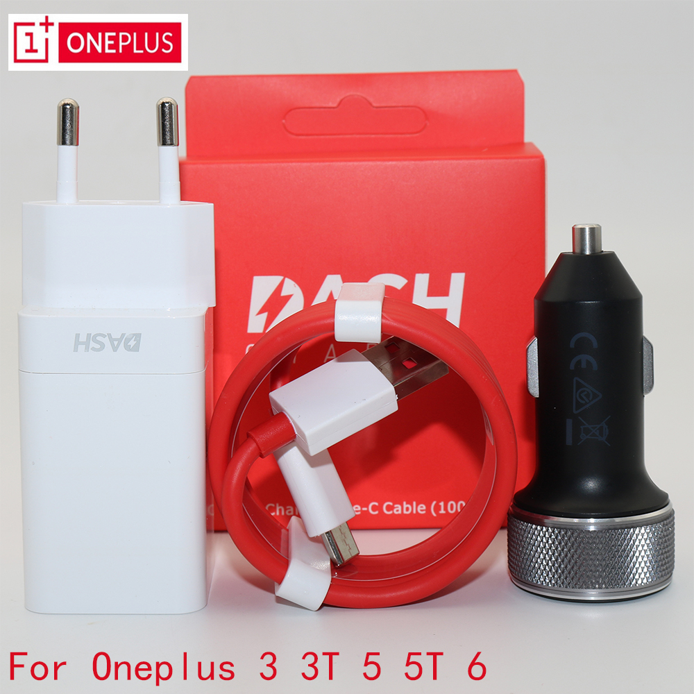 US $10 19 15% OFF|Original EU ONEPLUS 6 Dash Car charger One plus 6t 5T 5  3T 3 Smartphone 5V/4A Fast charge USB wall power adapter-in Car Chargers