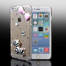 3D Handmade Bling Case for iPhone 7 Plus Crystal Rhinestone Diamond Skin Case Shell Bag Coque Bumper Glitter Hard Cover