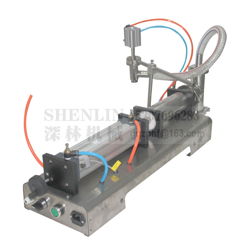 SHENLIN Semi-automatic filling machine liquid filler pneumatic packing machine 250ML, 300ML, 500ML food water filling machine applicatori di etichette manuali