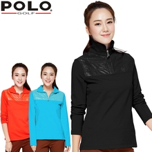 brand POLO. women's golf clothes golf T shirt short-sleeve polo shirt for Spring and Aut, Women Workout Polo sports clothings