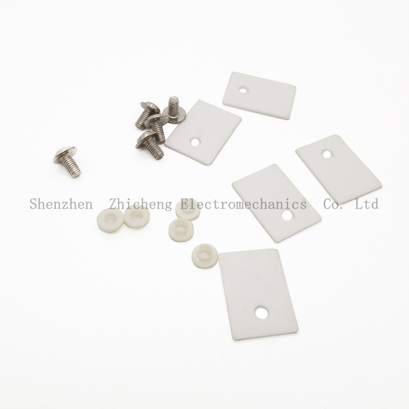 5Pcs TO-220 TO220 1x14x20mm Ceramic Transistor Triac Thyristor Insulator Insulation Protection mica l7805cv to220