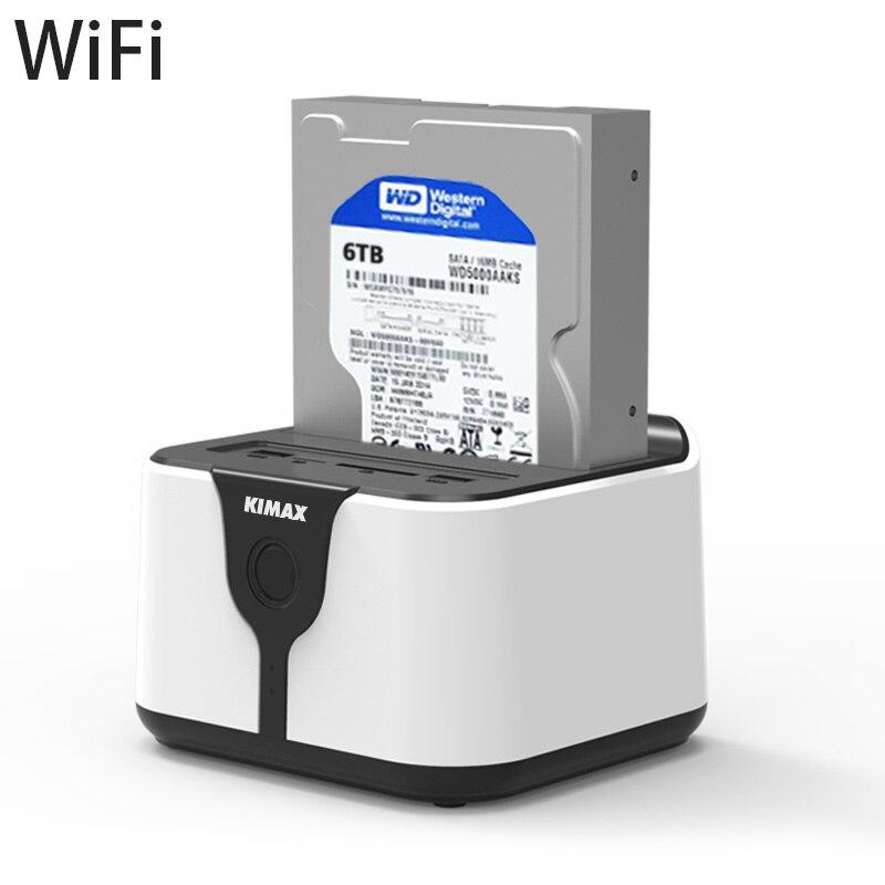 WiFi HDD Docking Station External USB Ports Card Reader Extension Personal LAN Storage Wireless Data Transmit