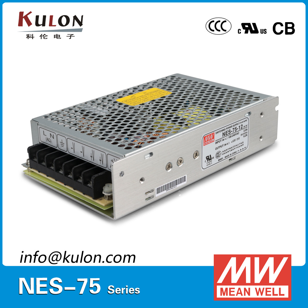Original Meanwell NES-75-5 Single output 70W 14A 5V Mean well Power Supply NES-75 CB UL EMC CCC [nc a] mean well original nes 350 7 5 7 5v 46a meanwell nes 350 7 5v 345w single output switching power supply