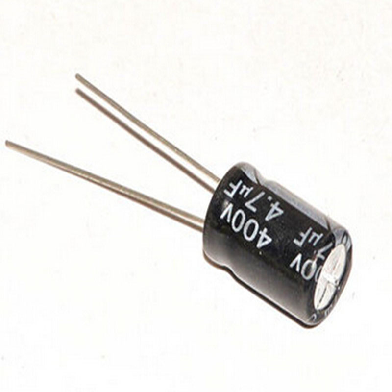 Electrolytic capacitor into 400 v 4.7 UF volume 8 * 12 mm universal dip aluminum electrolytic capacitor pack