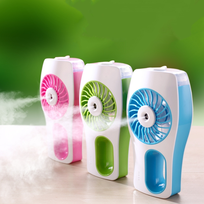 Water Mist Mini Fan USB Fans Mist Sprayer with 2000mAH Li Battery Air Ventilador Air Cooler Conditioning for Home Outdoor new portable outdoor mini fans with led lamp light table usb fan spray water humidifier personal air cooler conditioner for home