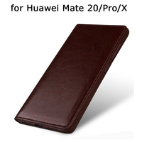 Genuine Leather Skin Case for Huawei Mate 20 20Pro Luxury Phone Cover Bag Tempered Glass Screen Protector for Huawei Mate 20X