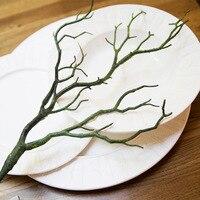 Yapay ağaç dalları Ev Vitrin için Plastik Yapay çiçekler Düğün Dekoratif kurutulmuş ağaç Çatal dalları H35cm