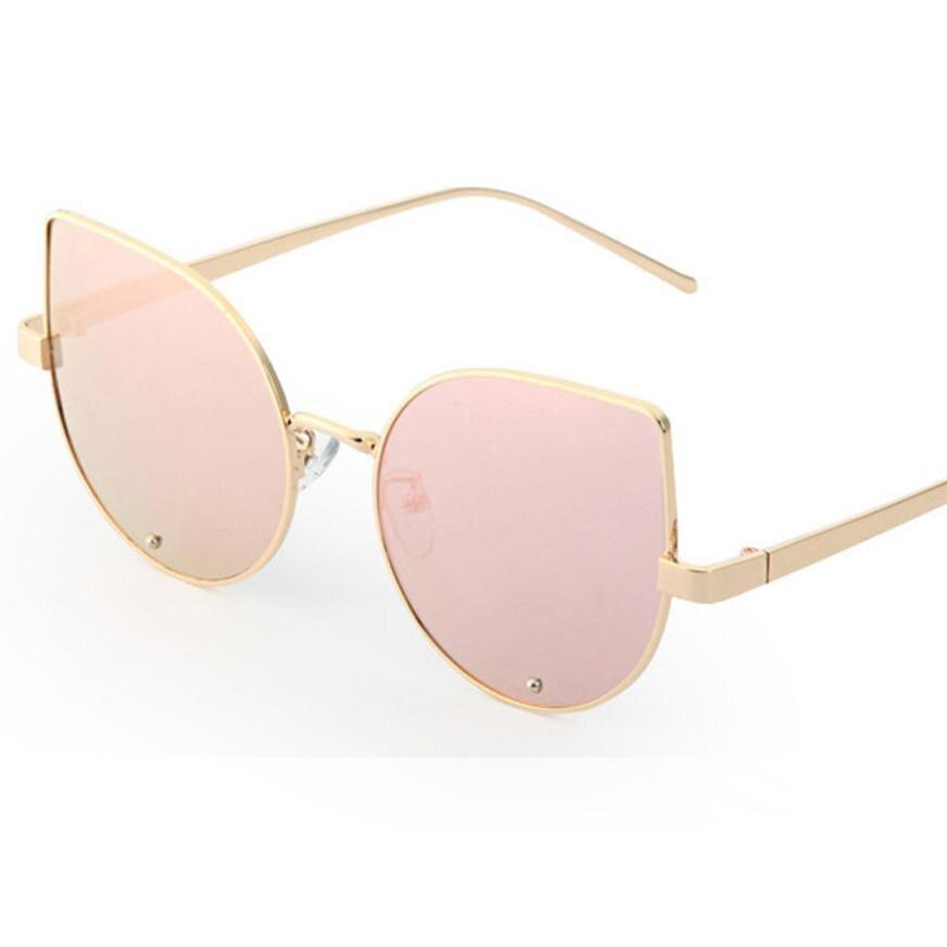 polarized sunglasses Women Summer Fashion Metal Reflection Mirror Frame From Lens Sunglasses Glasses lunette de soleil femme A8 reflection