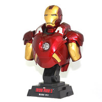 Iron Man 3 MK7 MARK VII 1/4 Scale Limited Edition Action Figure Bust with LED Light 23cm Collectible Model Toys Gift