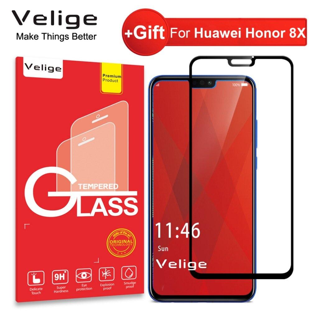 Velige 9 H de Vidro Temperado Para Huawei Honor 8X Honor8X 8 X Protetor de  Tela Ultra Fina Película de Vidro de Segurança de Proteção