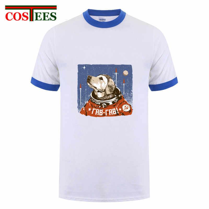 Rusia Pro Kitty Yuri Gagarin T-shirt Pria Vintage Soviet Pahlawan Kosmonot Retro Kemeja Ruang Lucu Astronot T Shirt TOP Hipster tee