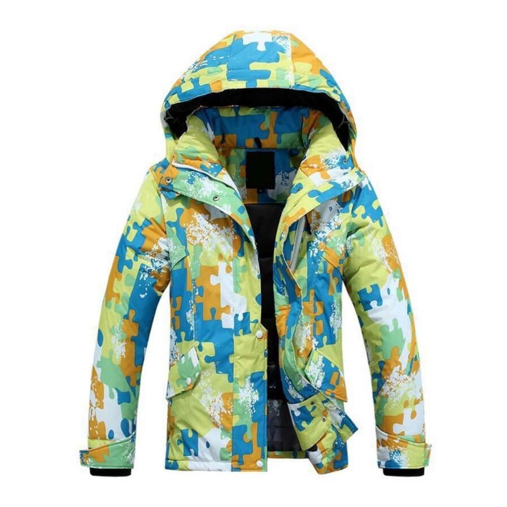 Фотография Windproof Waterproof Skiing skating Coat Thickened Cold-proof Skiwear Camouflage Winter Ski Cloth Climbing for Women warm cloth