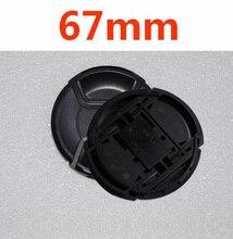 10pcs/lot 67mm center pinch Snap on cap cover LOGO for nikon 67 mm Lens