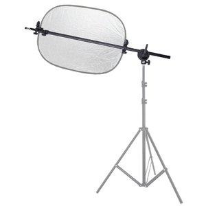 Image 5 - Suporte de suporte cabeça giratória refletor disco braço suporte com telescópico braço lança luz superior saco de areia para speedlite mini flash strobe