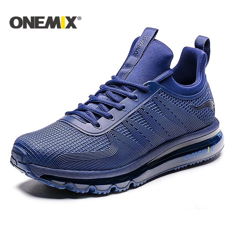 ONEMIX 2018 running shoes for men air cushion high top shock absorption sports sneaker light outdoor walking jogging shoes women