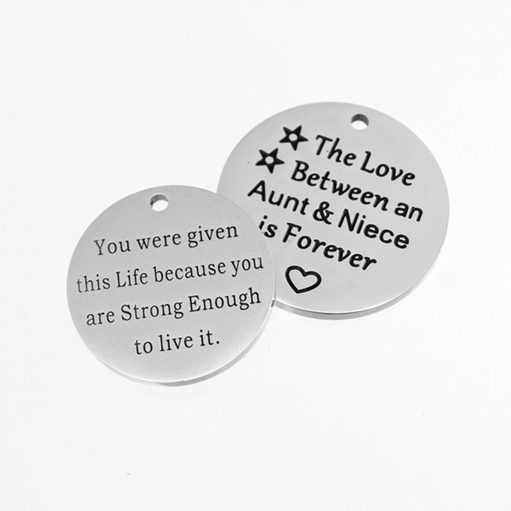 100% Stainless Steel Customized Engraved Round Tags Plate Pendant Shape Design Logo Words Mirror Polished Wholesale 100pcs100% Stainless Steel Customized Engraved Round Tags Plate Pendant Shape Design Logo Words Mirror Polished Wholesale 100pcs