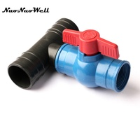 1pcs NuoNuoWell 2 N80 3 Ways Connector Valve Drip Tape For Garden Greenhouse Micro Drip Irrigation