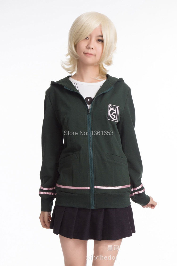 Danganronpa 2 Dangan-Ronpa Chiaki Nanami Anime Cosplay Hooded Coat Zipper 100% cotton Hoodie Jacket cosplay Costume