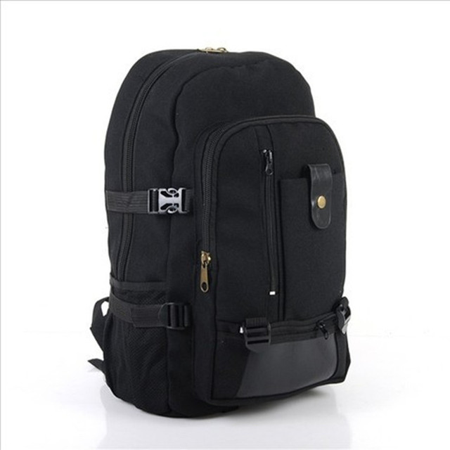 8b3d7a6584 Male fashionable casual canvas backpack middle school students school bag  travel bag large capacity backpack man