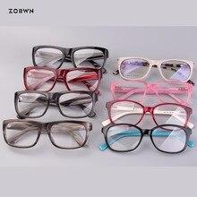 Mix wholesale retro eyeglasses women point man quadros glasses monturas de gafas Brand Retro Round Glasses Frame black red marca