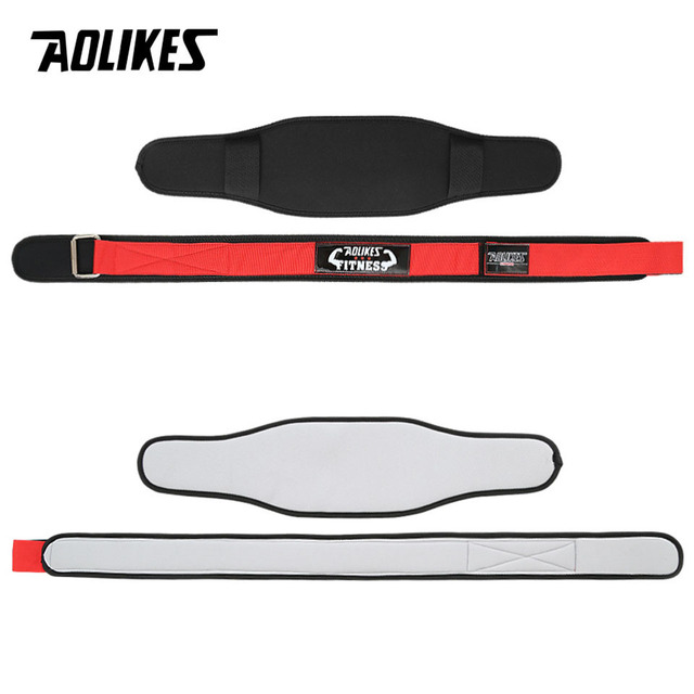 AOLIKES 1Pcs Waist Support Belt Sport Pressurized Weightlifting Bodybuilding Fitness Squatting Training Lumbar Back Support Gear 5