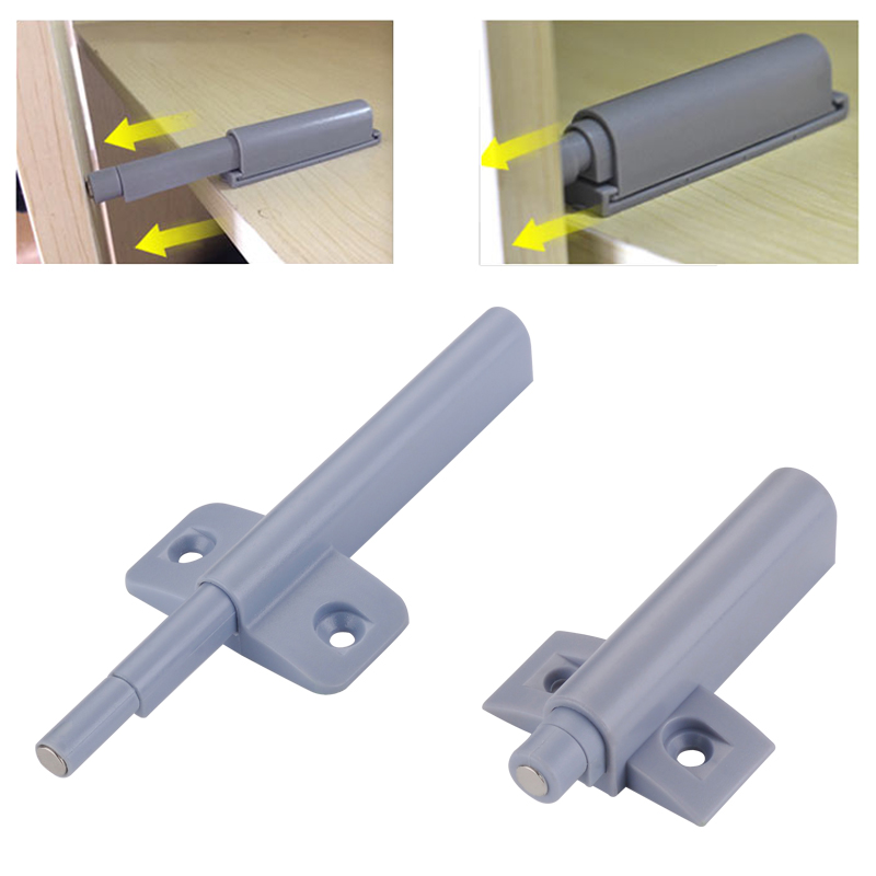 Myhomera Magnetic Cabinet Catches Cabinet Latch Push To Open Cupboard Drawer Door Touch Stop Damper Buffer Pull Push Invisible