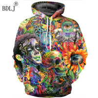 BDLJ Paint Skull 3D Printed Hoodies Men Women Sweatshirts Hooded Pullover Brand Qaulity Tracksuits Boy Coats
