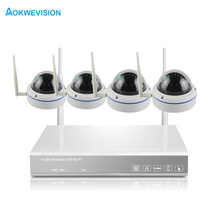 4ch indoor dome Day night security camera system 1080 Real p2p WiFi wireless cctv system NVR kit security camera system