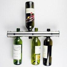 12 & eight holes Suspension Storage Organizer Barware New Handy Stainless Metal Wine Rack Wine Shelf Wall Mounted Holder