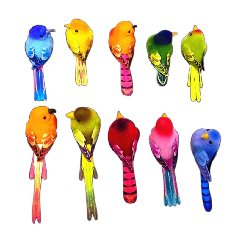 Compare prices on bird christmas ornament online shopping for Artificial birds for decoration