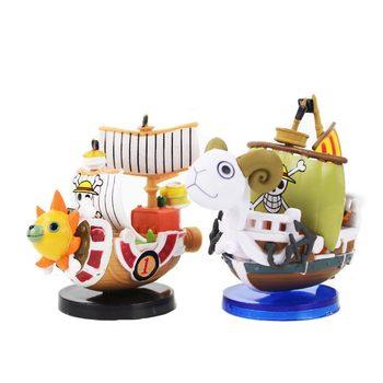 2 style Anime One Piece dane będzie wesołych świąt Thousand Sunny statek piracki słomy kapelusz piraci pcv kolekcjonerska Model zabawki 7 cm