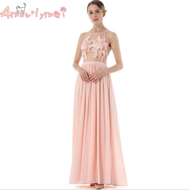 Amourlymei Abendkleid Vestidos 2017 Sommer Neue Frauen Rosa Elegante ...