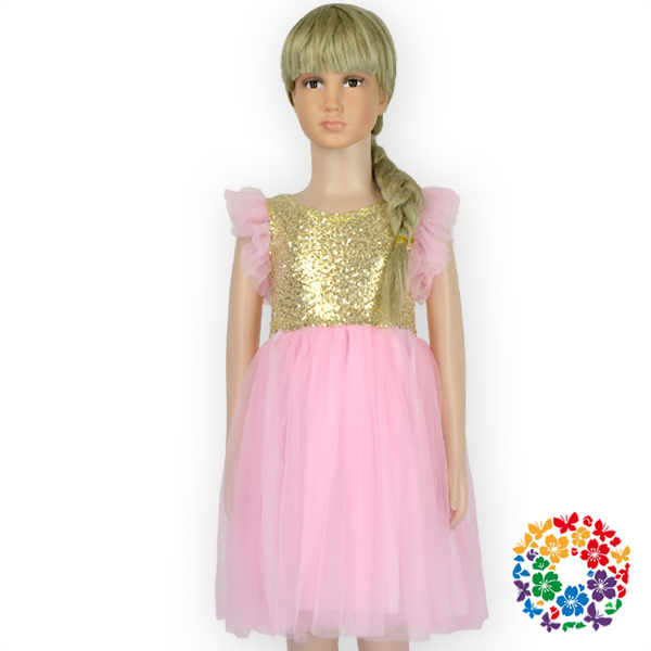 1aafeb7f5f New Pink Girl Sequin Dress,Kids Birthday Gold Sequined Dress,Children Girl  Party Wear Western Dress For Girl Of 1-6 Years Old