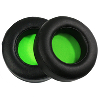 New Replacement Ear Pads Protein Leather Sponge Green Mesh Material Earpads For Razer Kraken 7 1