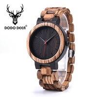 DODO DEER 100% Natural Wooden Watch Men Fashion Luxury Retro Quartz Wooden Customize Wrist Watches Drop Shipping Gift A03 2
