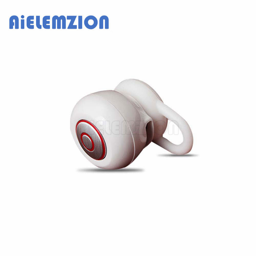 AiELEMZION Mini Bluetooth V4.1 Wireless In-Ear Earphone with Microphone Stereo Earbuds Portable Micro Hidden Headsets Hands-free mini wireless in ear micro earpiece bluetooth earphone cordless headphone blutooth earbuds hands free headset for phone iphone 7