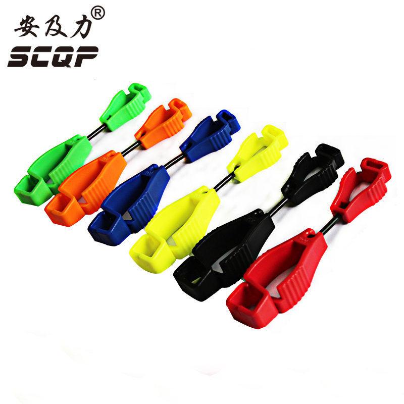 Glove Clip plastic Working gloves clips AT-9 type Work clamp safety work gloves Guard Labor supplies ship Random Color china at work