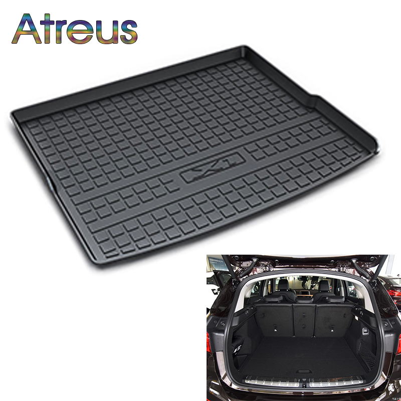 Atreus Car Rear Trunk Floor Mat Durable Carpet For BMW X1 F48 2016 2017 2018 Boot Liner Tray Waterproof Anti-slip mat atreus car rear trunk floor mat durable carpet for toyota corolla e140 e150 2007 2013 boot liner tray waterproof anti slip mat