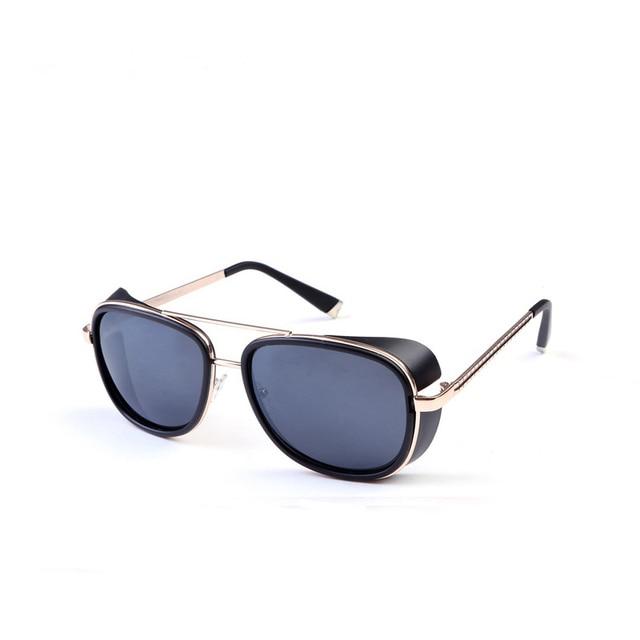 753aa71798 SITTEEH Sun glasses Iron man Tony stark sunglasses for men women vintage  steampunk classic steampunk mirror