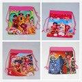 12 Unids Mia y Me Cartoon Kids Morral del Lazo Comercial Escuela Viajan Bolsos de Fiesta de Regalos de Cumpleaños