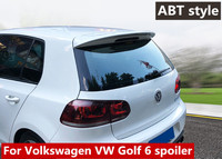 2010 2013 for Volkswagen Golf 6 Spoiler ABT style rear roof spoiler Rear Spoiler ABS material Primer and paint color