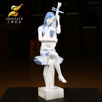 As good as water Chinese wind people ladies decoration sculpture crafts Home Furnishing decoration 1080 wall dies
