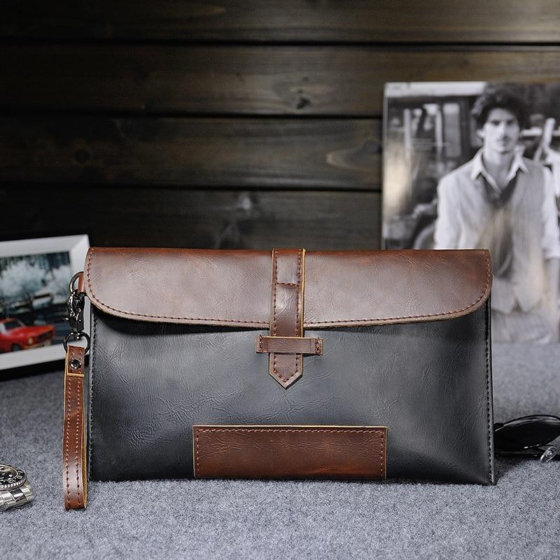 69cff54a43 New Men Clutches Vintage Handbags Retro Envelope Clutch Casual Men ...