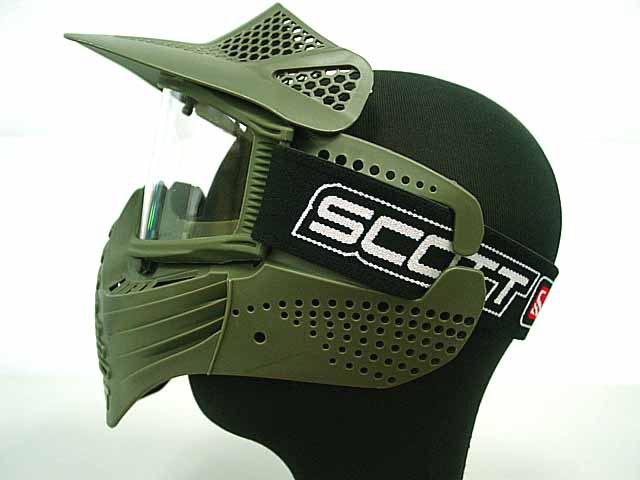 2colors high quality Tactical Safty Airsoft Paintball Full Face Mask w/Goggles free shipping