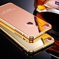 2017 nova kasatin luxo marca rose gold espelho para carros case para a apple iphone 7 plus anti-batida de alumínio proteja capa com logotipo