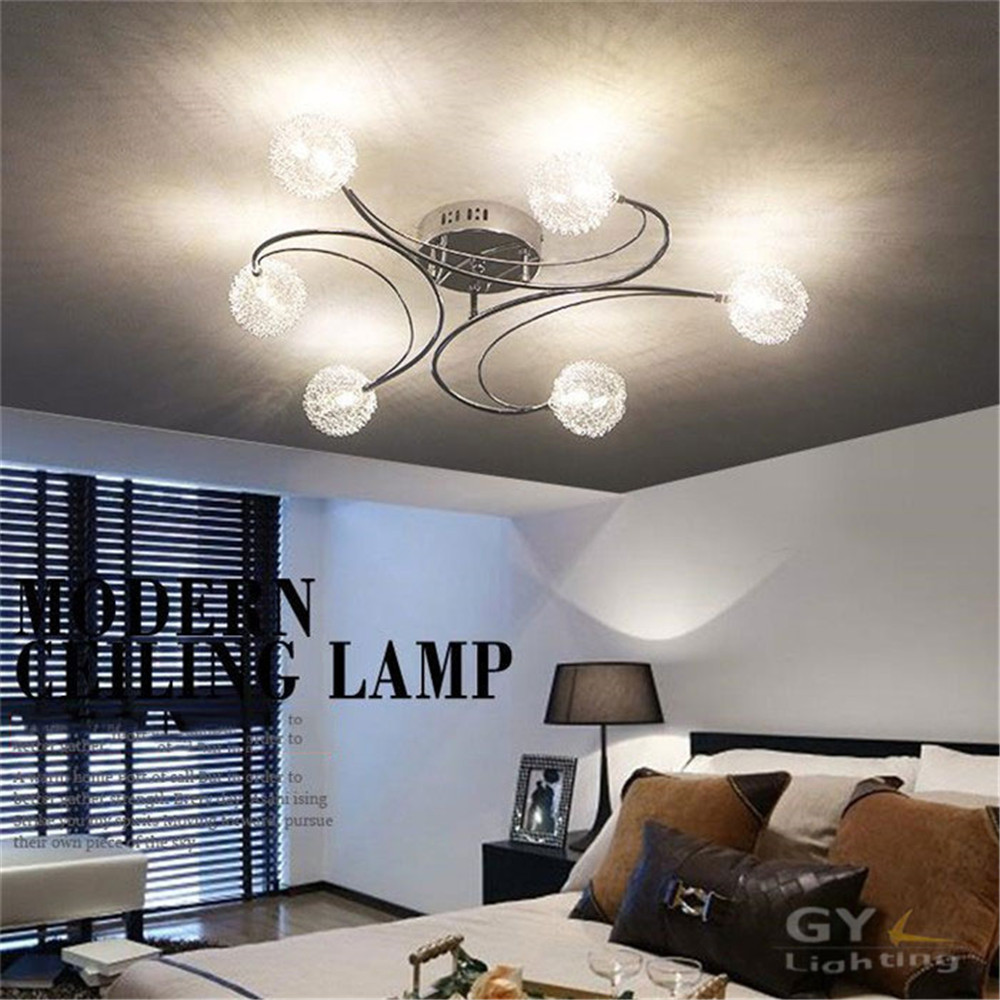 2017 New Aluminum wire LED ceiling font b chandelier b font font b lighting b font