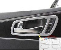 Car Styling Matte Door Inner Handle Sticker Interior Molding Cover Decoration Frame Case 4 PCS For