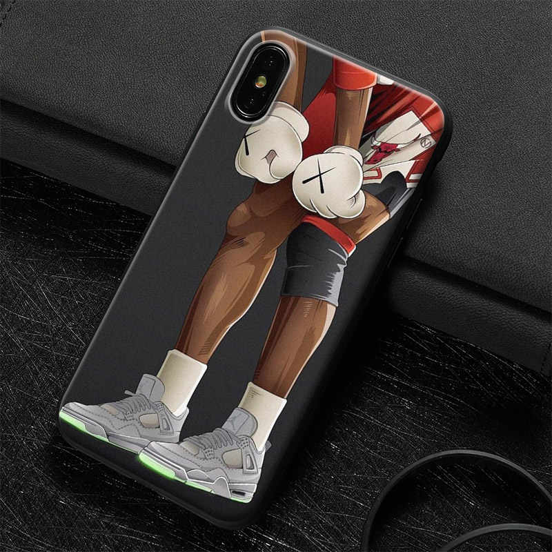 b1c5131b4870 Kaws Trend Fashion Jordan Soft Silicone Phone Case Cover Shell For Apple  iPhone 5 5s Se